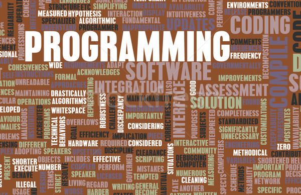 プログラミング ソフトウェア 開発 背景 仕事 デジタル ストックフォト © kentoh