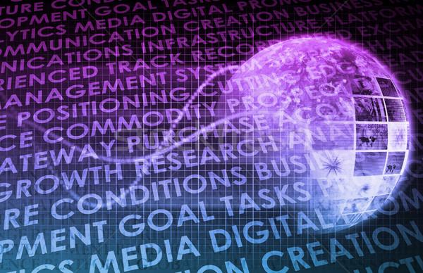 Beratung Dienstleistungen Welt Wissen abstrakten Technologie Stock foto © kentoh