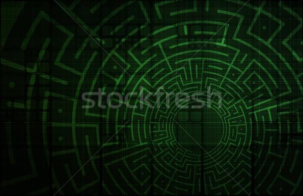 Business moeilijkheden startup technologie lopen bouwen Stockfoto © kentoh