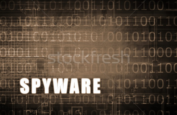 Foto d'archivio: Spyware · digitale · allarme · abstract · computer