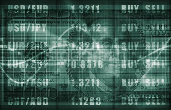 Forex handlowy online Dolar wykres działalności Zdjęcia stock © kentoh