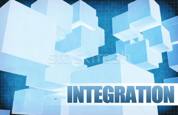 Integración futurista resumen presentación Slide fondo Foto stock © kentoh