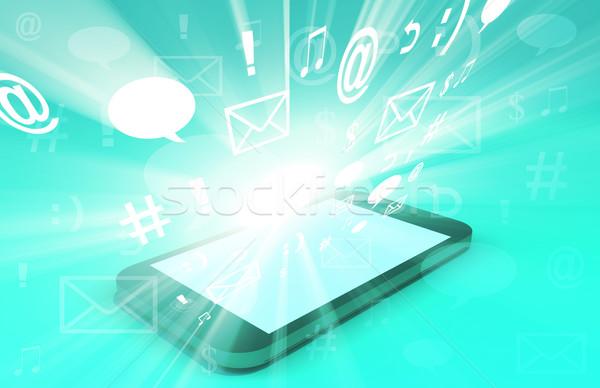 мультимедийные технологий глобальный веб данные искусства Сток-фото © kentoh