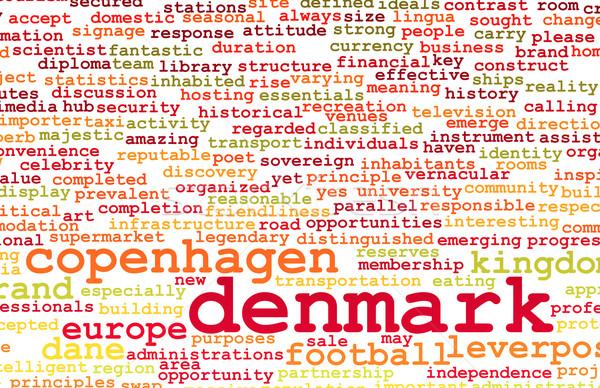 Danimarka ülke soyut sanat gıda şehir Stok fotoğraf © kentoh