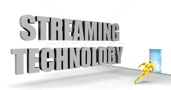 Streaming technologie rapide suivre diriger express Photo stock © kentoh