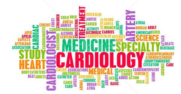 Kardiologie Kardiologe medizinischen Bereich Spezialität Büro Stock foto © kentoh