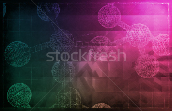DNA Helix Abstract Stock photo © kentoh