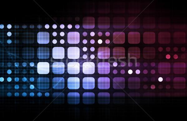ネットワーク セキュリティ インターネット データ 背景 企業 ストックフォト © kentoh