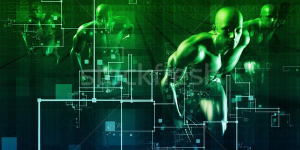 Informatie uitwisseling overdragen kennis internet technologie Stockfoto © kentoh