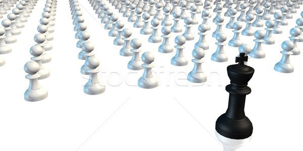 Business Chess Strategy King with Pawns Stock photo © kentoh