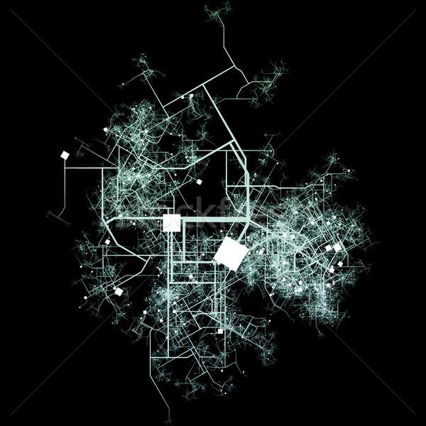 Vervoer stad groeiend water weg netwerk Stockfoto © kentoh