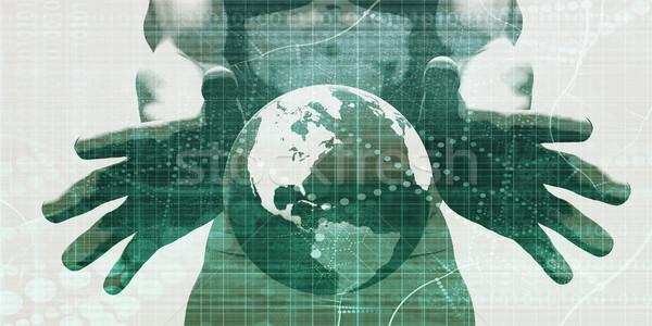 Partout dans le monde soutien réseau carte fond Photo stock © kentoh