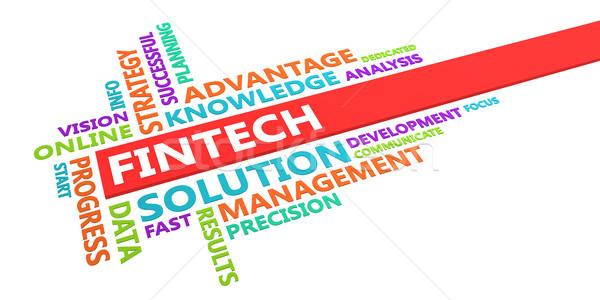 Fintech Word Cloud Stock photo © kentoh