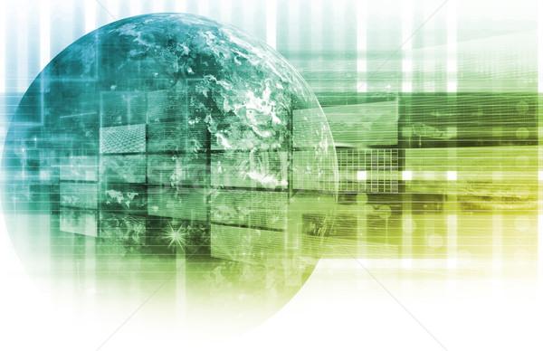 Tecnologia da informação dados rede abstrato projeto tecnologia Foto stock © kentoh