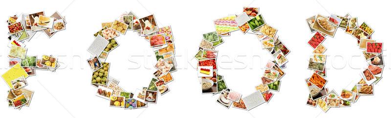 食品 メニュー コラージュ 文字 アルファベット デザイン ストックフォト © kentoh
