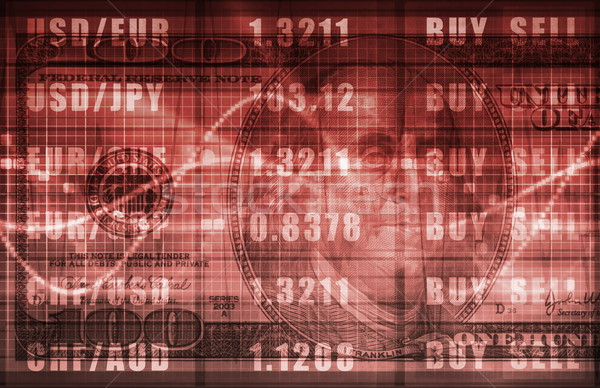 Forex торговый онлайн доллара графа бизнеса Сток-фото © kentoh