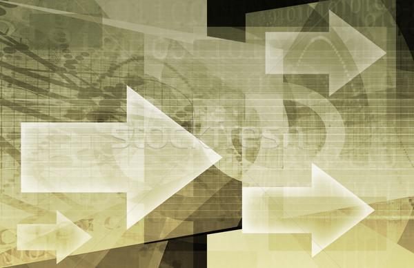 データ ストリーム インターネット デジタル 情報 移動 ストックフォト © kentoh