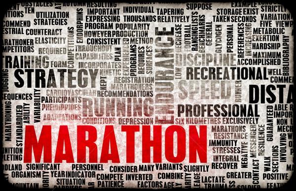 マラソン イベント 競争 抽象的な 群衆 スポーツ ストックフォト © kentoh