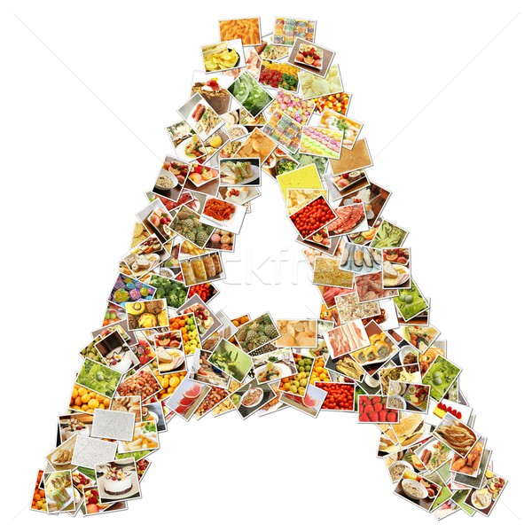 Stockfoto: Brief · doopvont · vorm · alfabet · collage · business