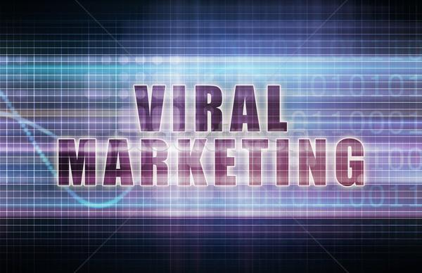 Viralen Marketing Tech Business Tabelle Kunst Stock foto © kentoh