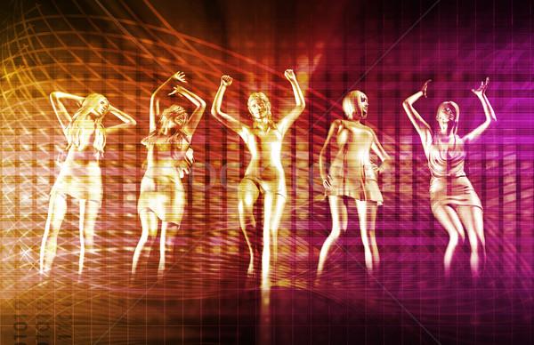 Discoteca techno festa eletrônico música arte Foto stock © kentoh