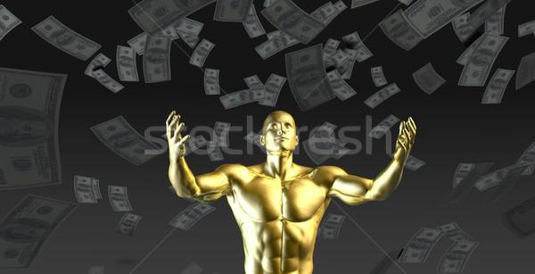 Winst geld business industrie tijd Stockfoto © kentoh