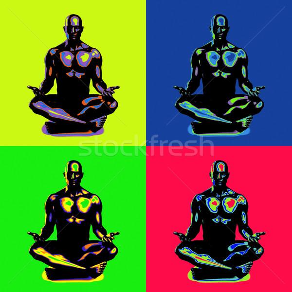 просветление йога класс свет здоровья мужчин Сток-фото © kentoh