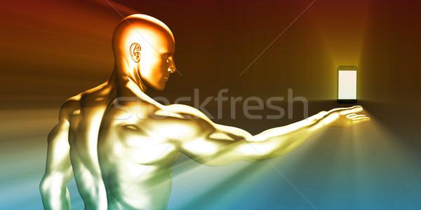 Revolução tecnologia homem Foto stock © kentoh