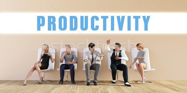 Business produktiviteit groep vergadering man achtergrond Stockfoto © kentoh