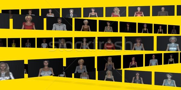 Globalny społeczności kontakcie online technologii świat Zdjęcia stock © kentoh