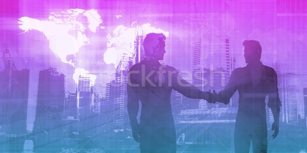 Commercio internazionale governo business consulenza riunione stretta di mano Foto d'archivio © kentoh