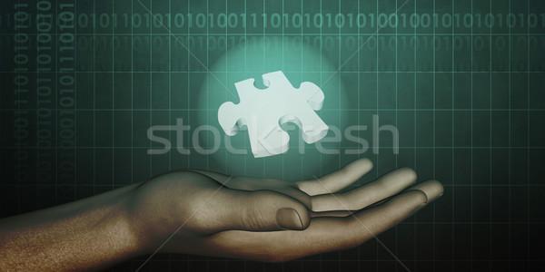 Industriële engineering ontwerp oplossingen business computer Stockfoto © kentoh