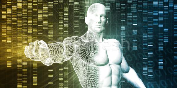 Génétique modification science industrie art fond Photo stock © kentoh