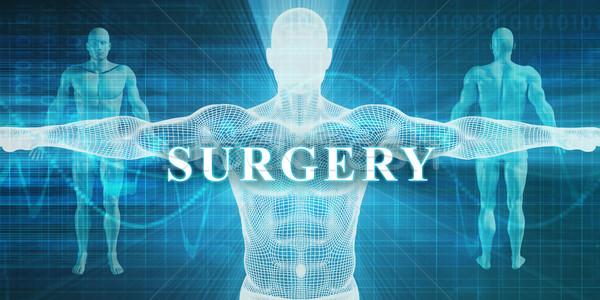 Chirurgie médicaux spécialité domaine département homme Photo stock © kentoh