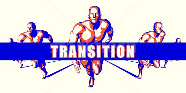トランジション 競争 実例 芸術 背景 オレンジ ストックフォト © kentoh
