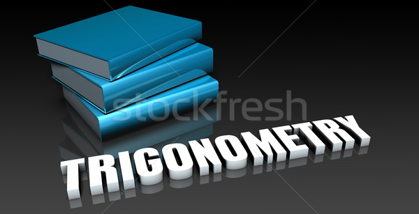 Trigonometria classe escolas educação livro livros Foto stock © kentoh