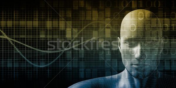 Wetenschap technologie lichaam abstract natuur model Stockfoto © kentoh