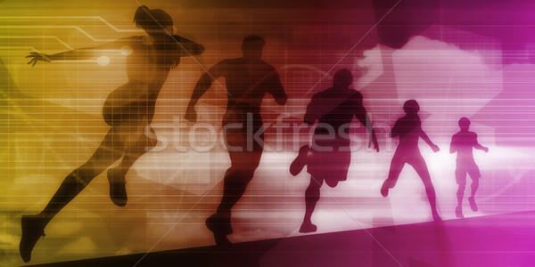 Spor örnek çalışma insanlar uygunluk sanayi Stok fotoğraf © kentoh