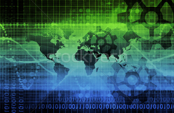 Stockfoto: Globale · integratie · business · internet · technologie