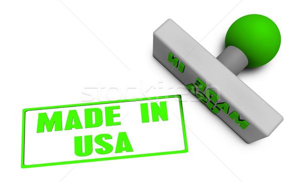 Made in USA Stamp Stock photo © kentoh