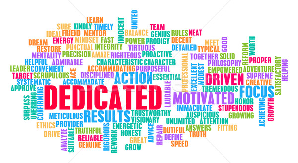 Dedicated Word Cloud Concept Stock photo © kentoh