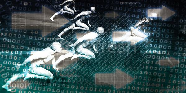 Stok fotoğraf: Dijital · ikili · kod · görüntü · teknoloji · bilgisayar · arka · plan