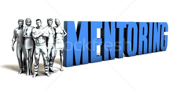 Mentoring business vrouwen team corporate bedrijf Stockfoto © kentoh