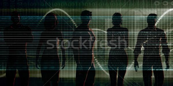 Munkaerő tervez üzlet művészet férfi technológia Stock fotó © kentoh