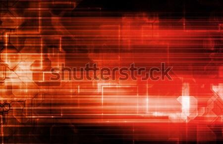 Technologia informacyjna działalności streszczenie technologii bezpieczeństwa sieci Zdjęcia stock © kentoh