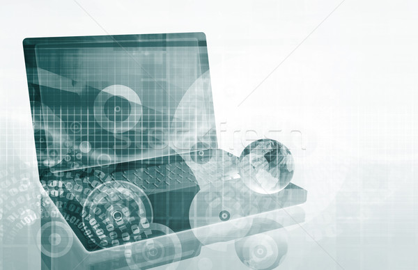 Tech Futuristic Business Chart Stock photo © kentoh