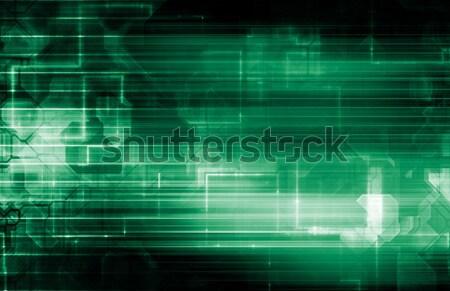Elektrische engineering pols lijnen business abstract Stockfoto © kentoh