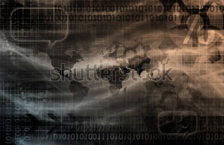 Digital economía resumen negocios Internet fondo Foto stock © kentoh