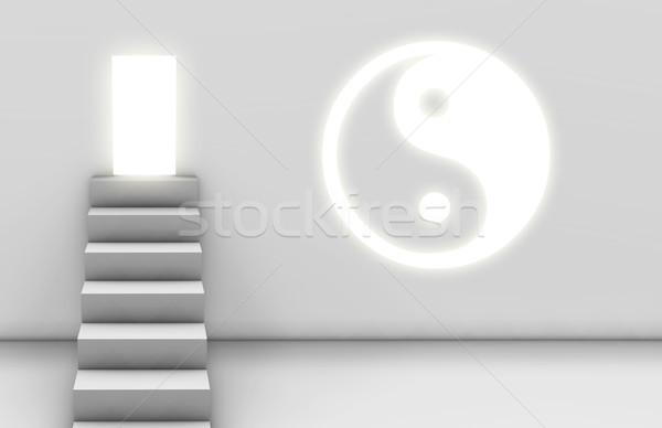 út megvilágosodás yin yang spirituális út jóga Stock fotó © kentoh