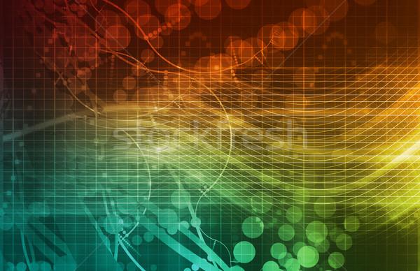 ADN biotech chimie médicaux liquide Photo stock © kentoh